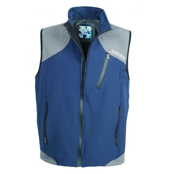 Colmic Chaleco Softshell Azul - Gris