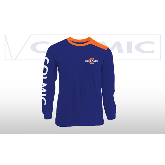Colmic T-shirt Long Sleeves Blue-orange