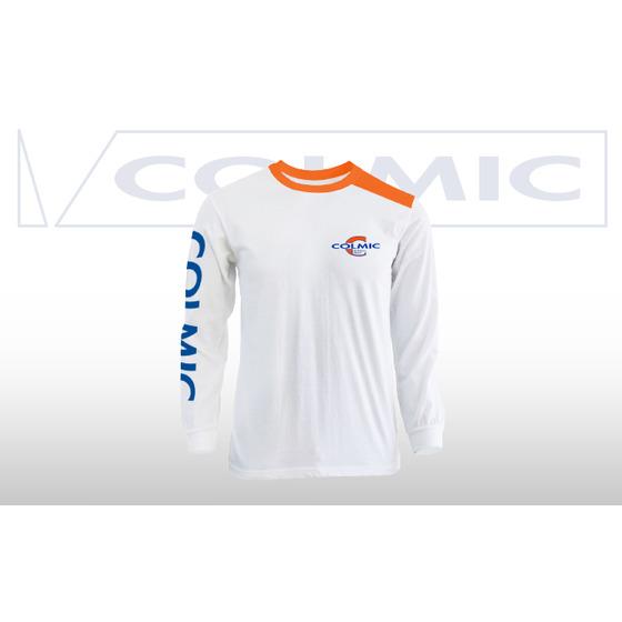 Colmic T-shirt Long Sleeves White-orange