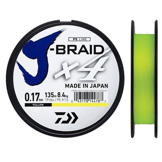 Daiwa J - Braid X4 135 M Yellow