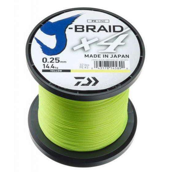 Daiwa J - Braid X4 1350 M Yellow