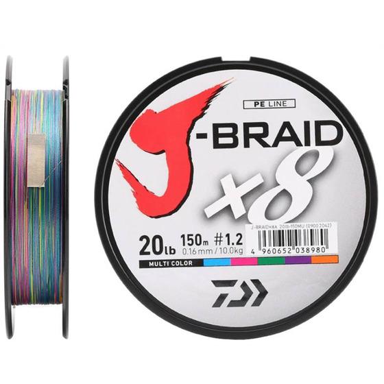 Daiwa J - Braid X8 150 M Multicolor