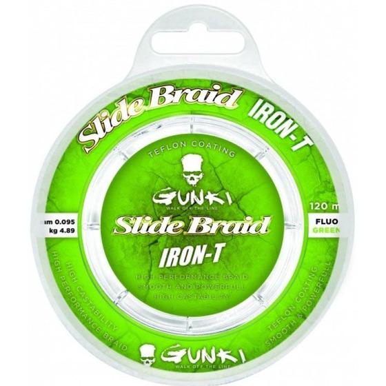 Gunki Slide Braid Iron-T 120 Fluo Green