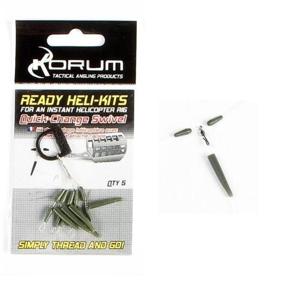Korum Ready Heli-Kits - Quickchange Swivel