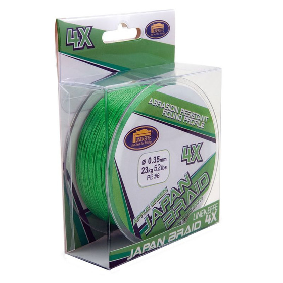 Lineaeffe Japan Braid 4 X Apple Green