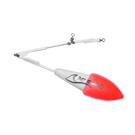 M2 Fishing Surf Top Bicolor con Viga Blanco-Rojo