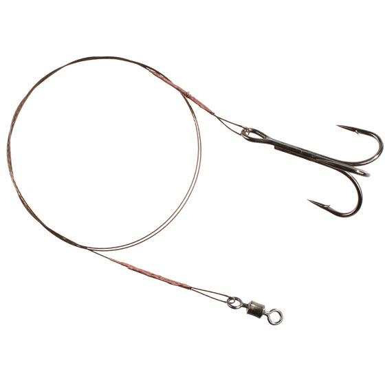 Mikado Steel Leaderwith Swivel And Double Treble Hook