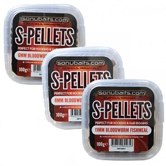 Sonubaits S-Pellets Bloodworm Fishmeal