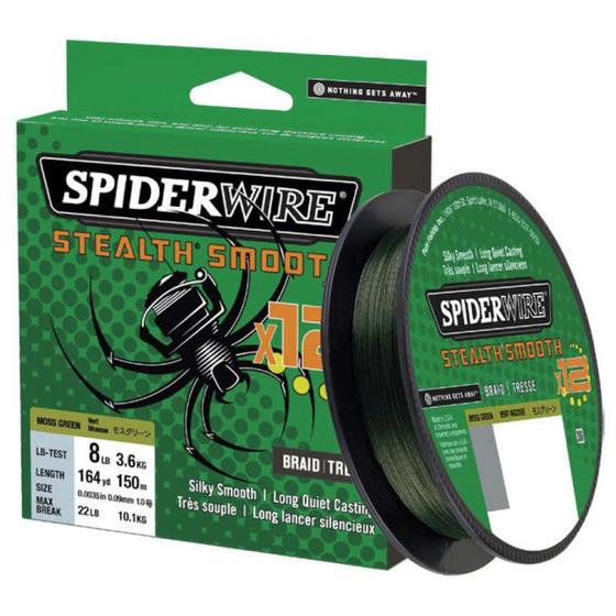 Spiderwire Stealth Smooth 12 Braid Moss Green