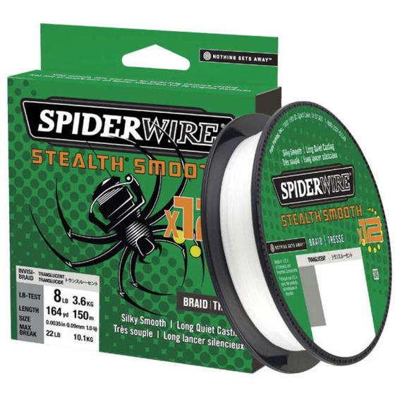 Spiderwire Stealth Smooth 12 Braid Translucent