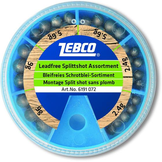 Zebco Split Shot Assortment, Lead Free