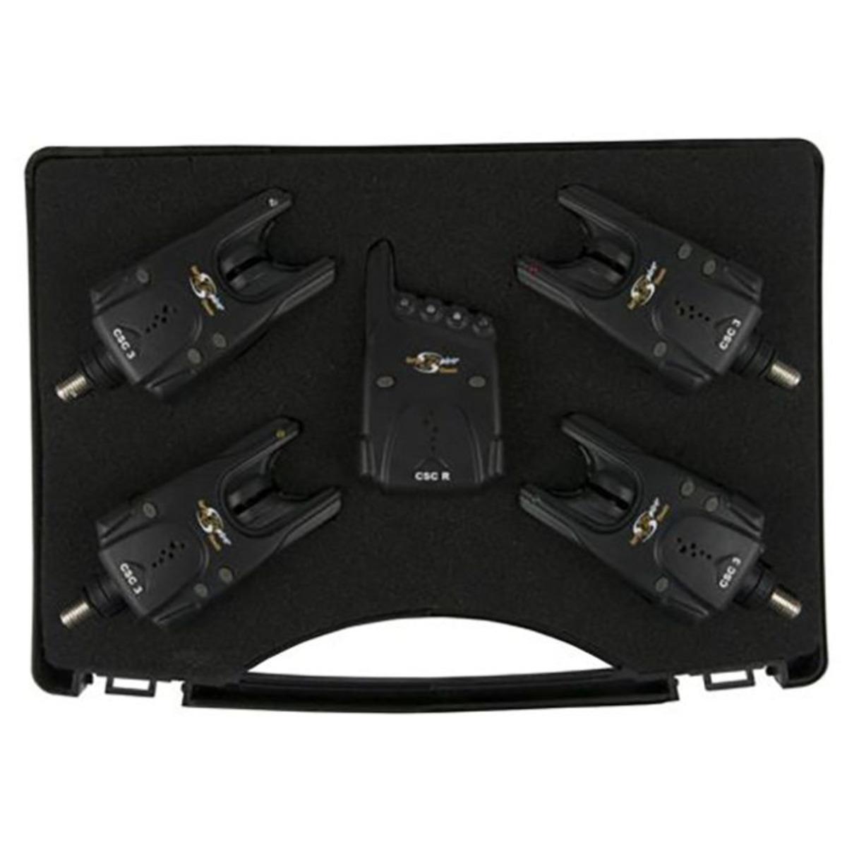 Carp Spirit Set 4 CSC3 Alarms con Receiver - 4 CSC3 Alarms + Receiver