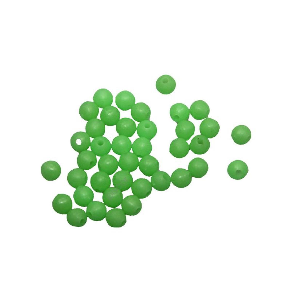 Contumax Runde Perle Grün leuchtend Steif - 3 mm