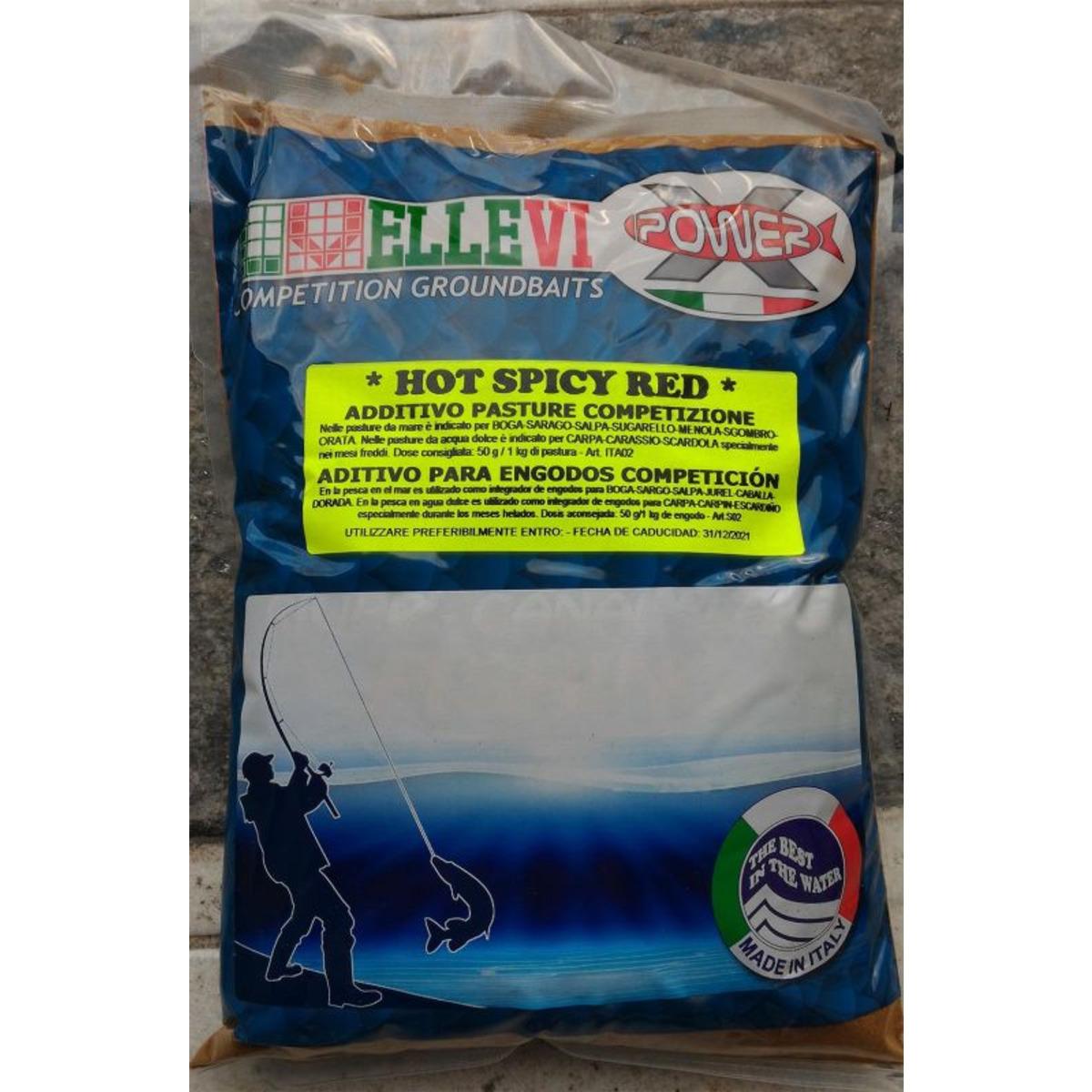 Ellevi Zusatzmittel mit Aminosäuren Wettkampf Hot Spicy Red - Steinfarbe - 1 kg