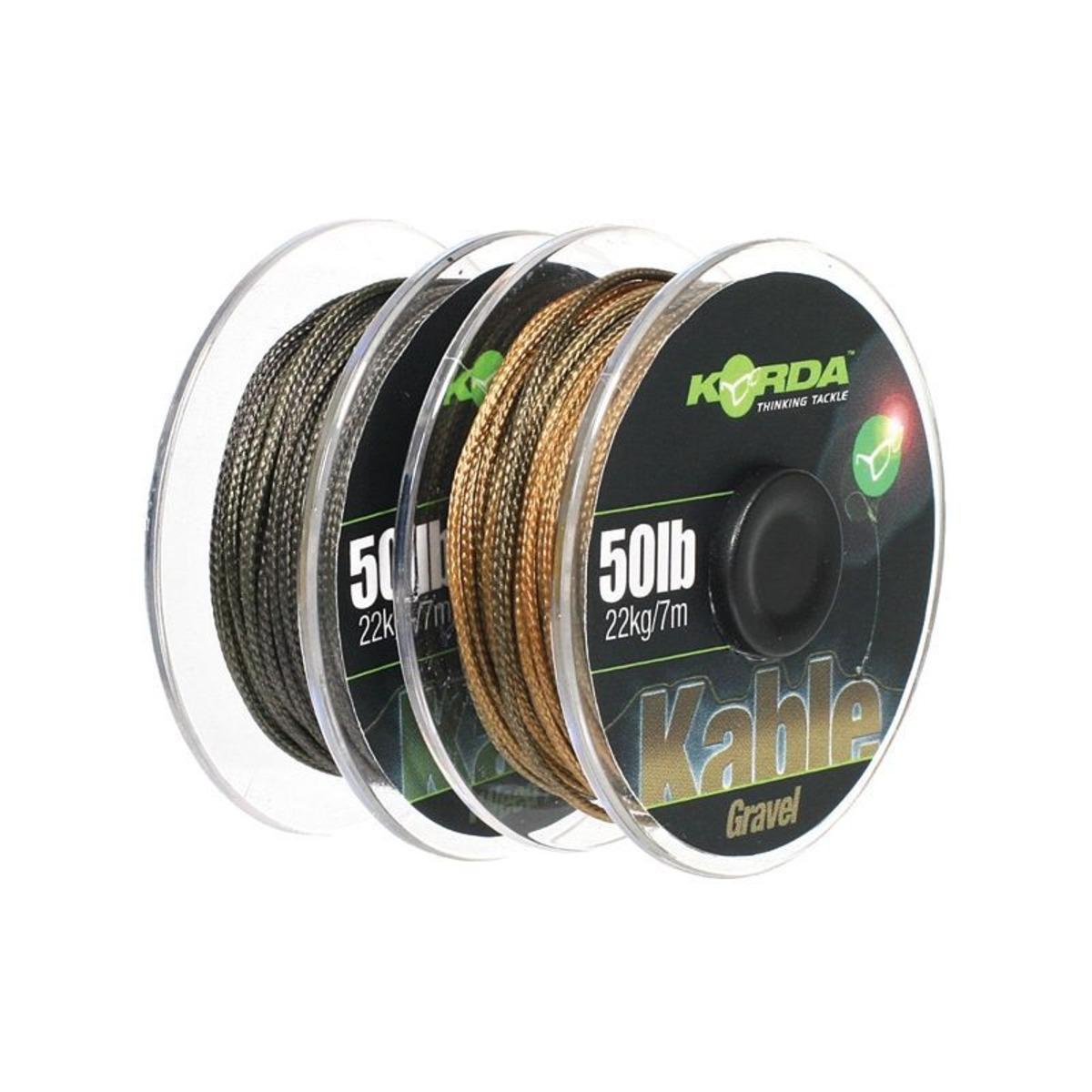 Korda Kable Leadcore - Weed - Silt - 7 m