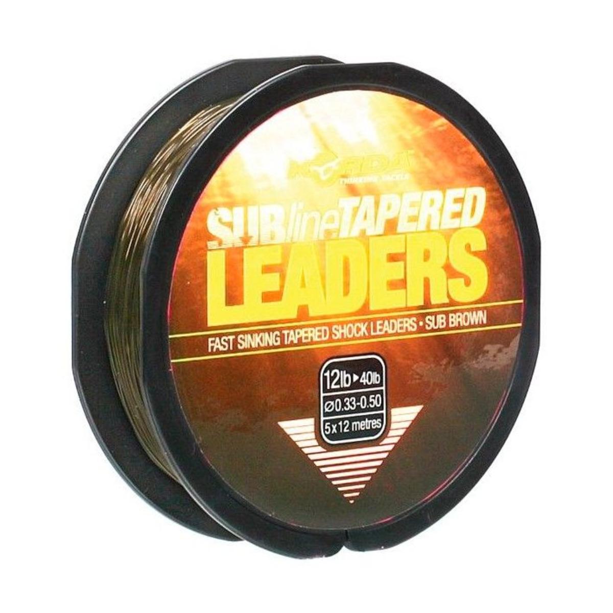 Korda Subline Tapered Leader - 0.30 mm / 0.50 mm - Brown