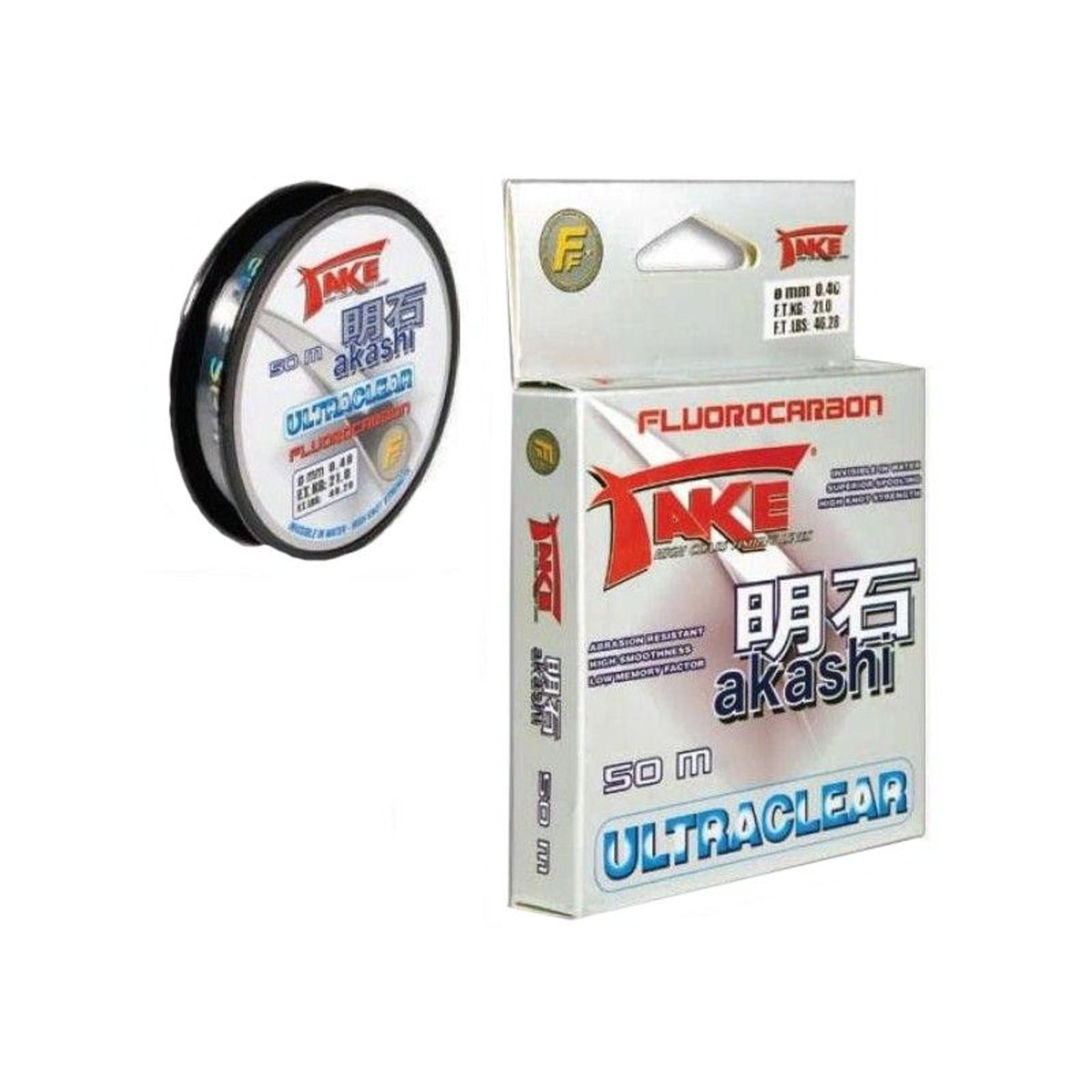Lineaeffe Take Akashi Fluorocarbon Ultraclear - 0.10 mm - 50 m