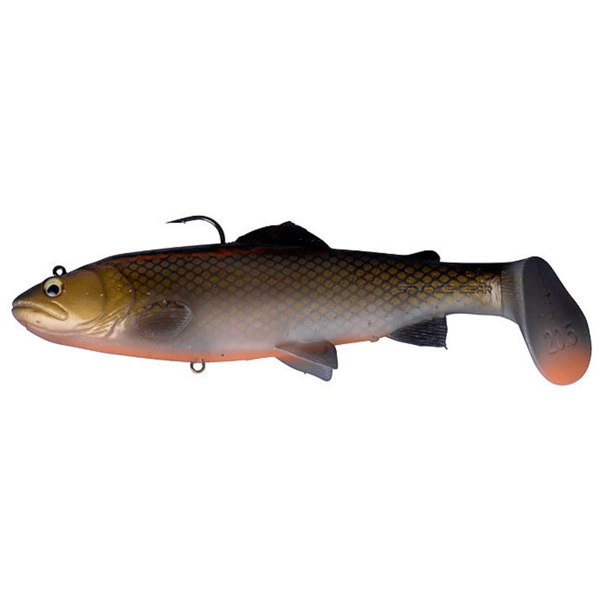 Savage Gear 3D Trout Rattle Shad - 12.5 cm - 35 g - Dirty Roach