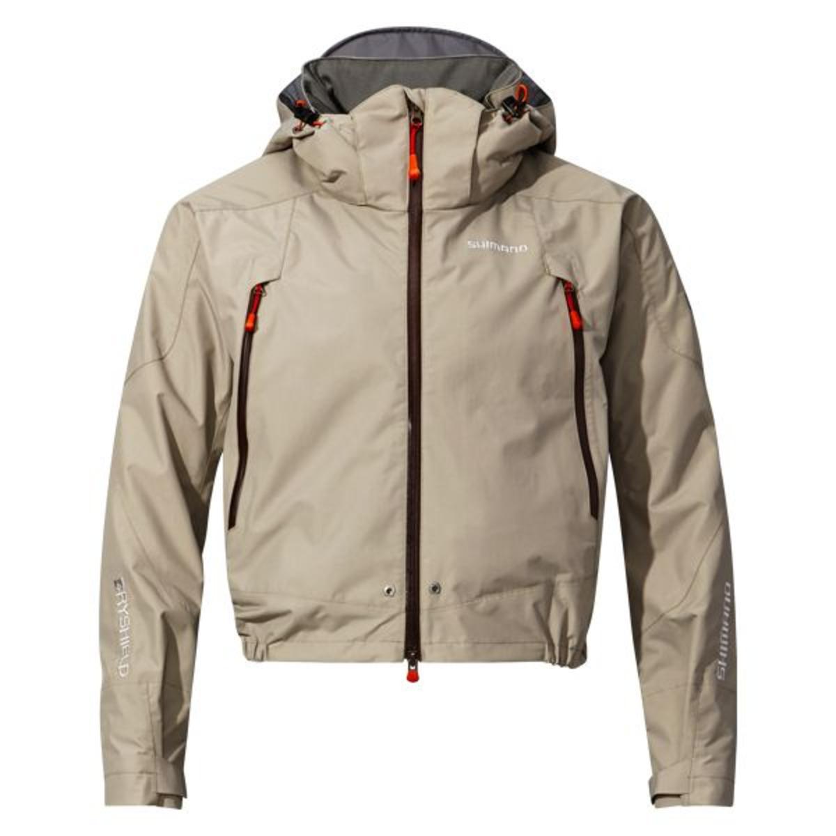 Shimano Jacke Dryshield Advance Short Rain - L - Beige