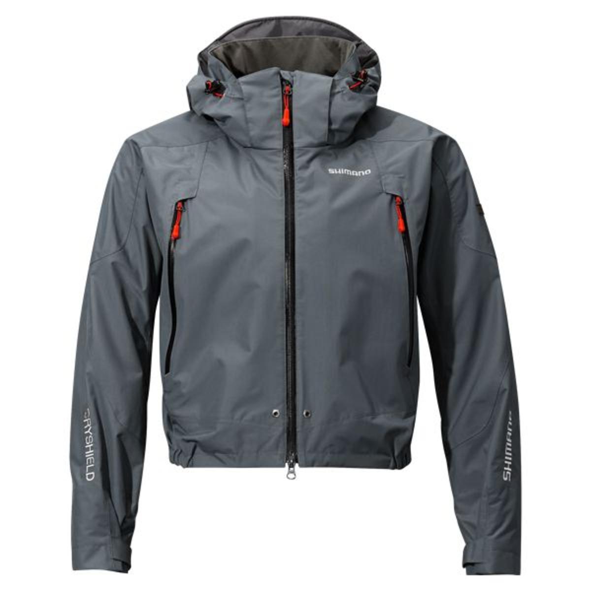 Shimano Jacke Dryshield Advance Short Rain - L - Grey
