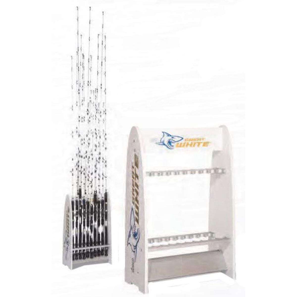 Zebco Great White Rod Stand - 60x30x78 cm