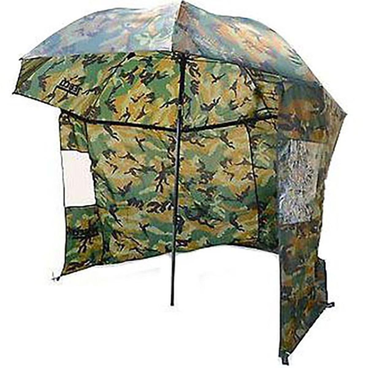 Zebco Nylon Camou Storm Umbrella - 2.20 m