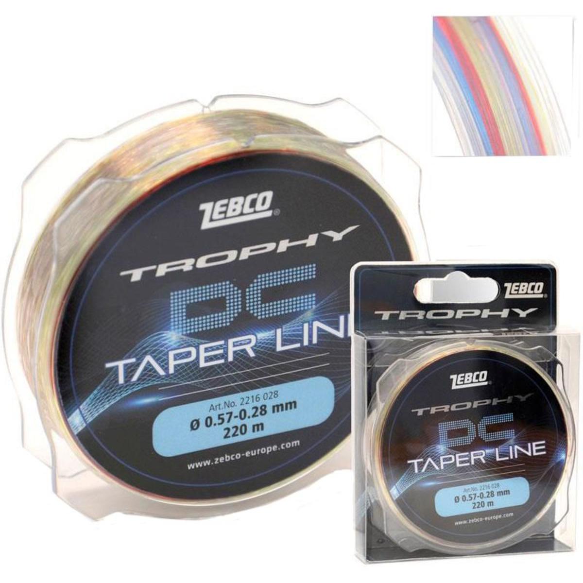 Zebco Trophy DC Taper Line - 0.28 mm - 0.57 mm - 220 m