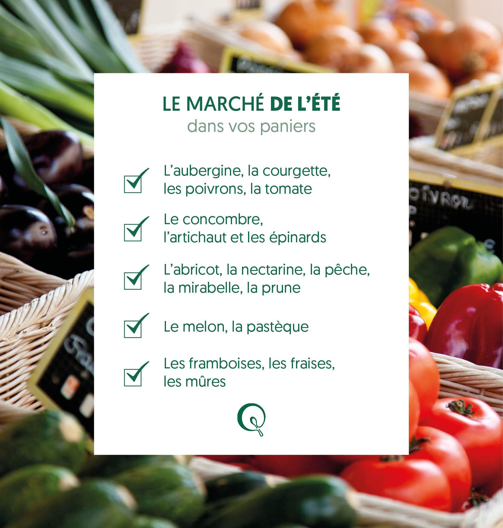 Liste des fruits et légumes de l'été