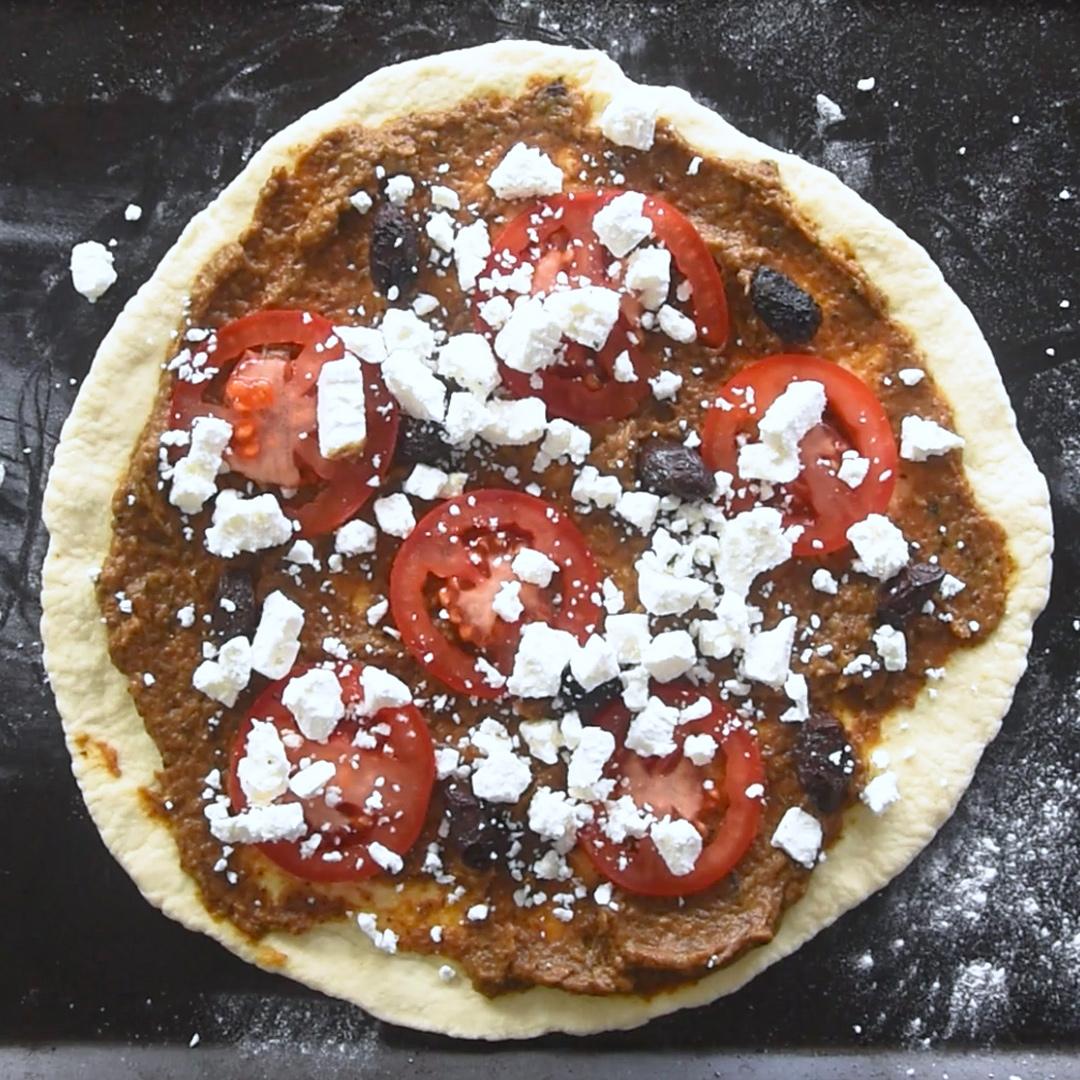 Recette de pizza méditerranéenne