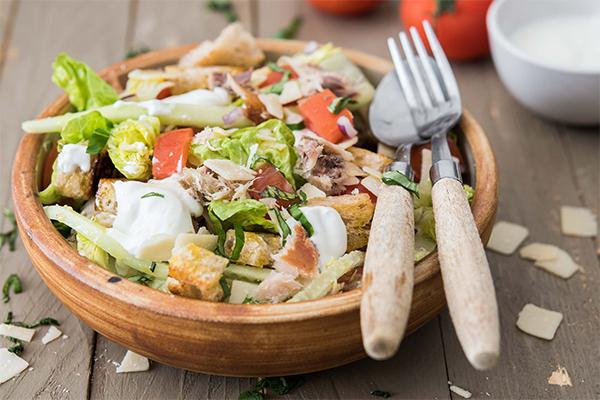 Recette de salade de maquereau façon César