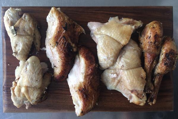 Comment découper un poulet en images