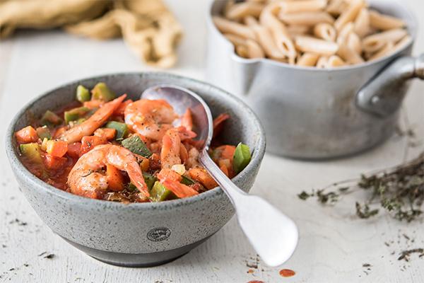 Recette de penne aux crevettes et à la sauce marinara