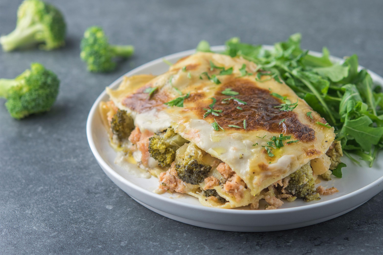 Recette des lasagnes au saumon fumé et au brocoli