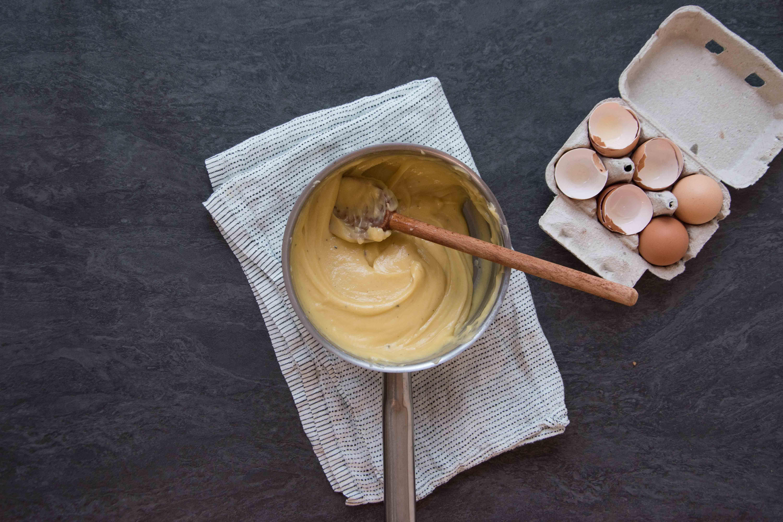 Recette pommes dauphines - étape 1 : mélanger bien
