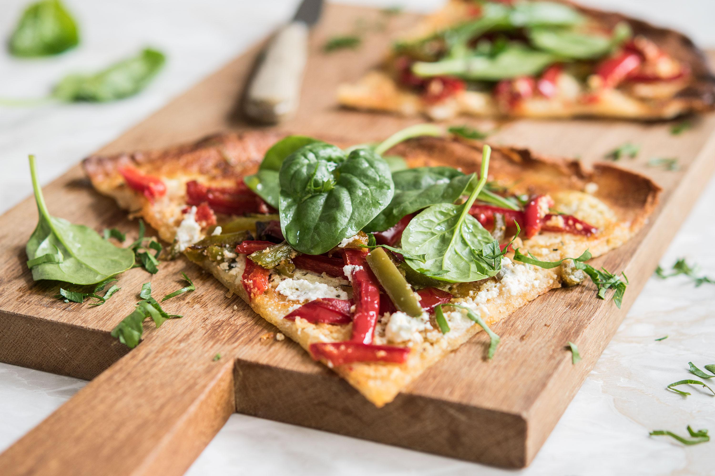pizza_au_chevre_et_deux_poivrons