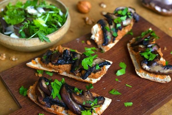 Tartines aux rillettes végétales