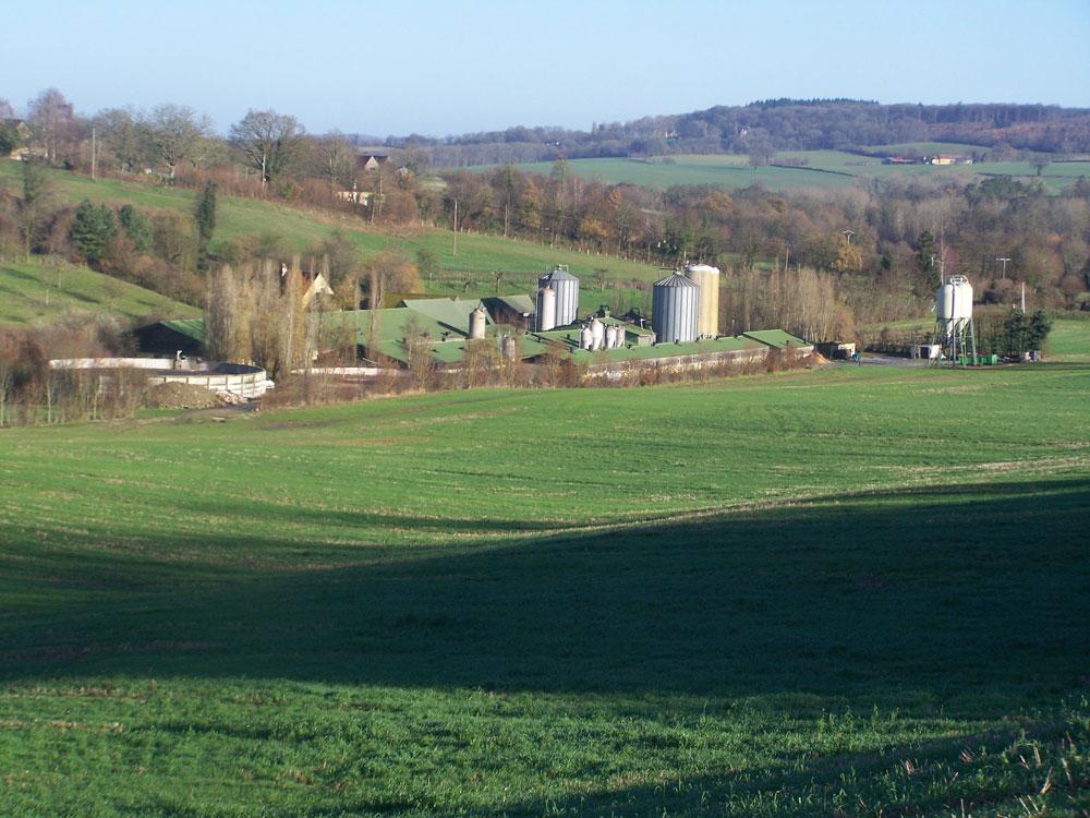 Paysage ferme d'origine Vallégrain
