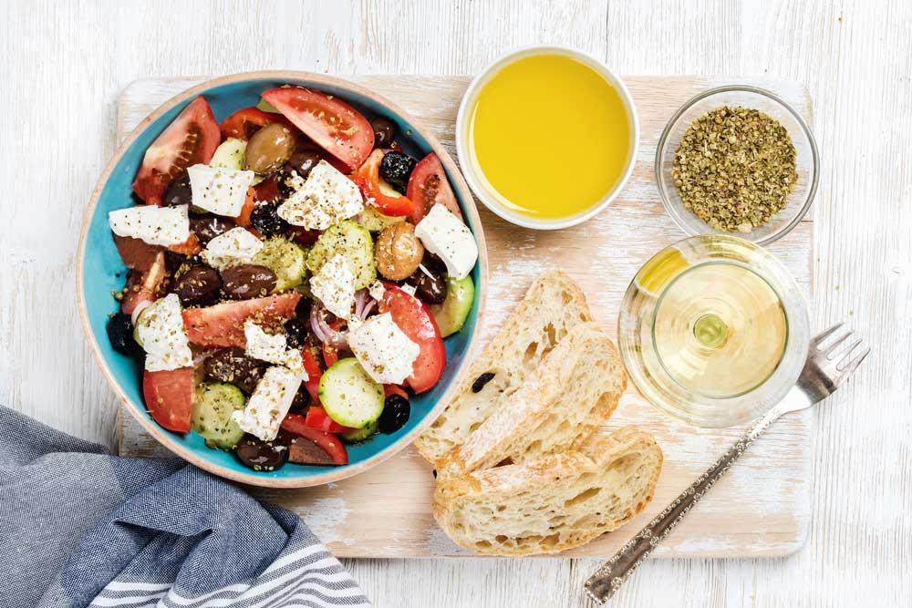 Salade grecque à préparer
