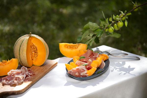 Melon charentais et jambon speck Quitoque