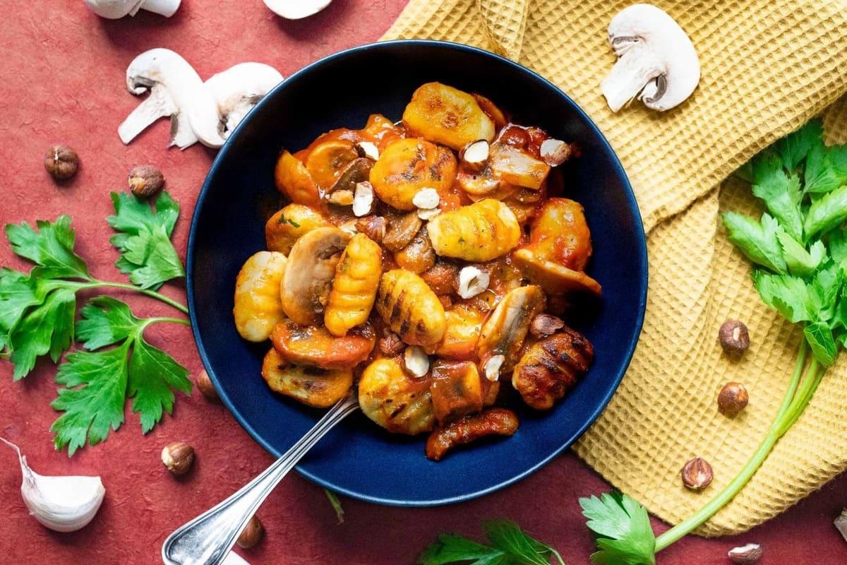 Gnocchi d'Okara aux champignons et persil