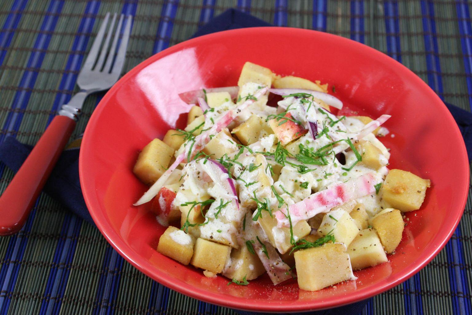 Panzanella d'hiver à la panisse (salade italienne)