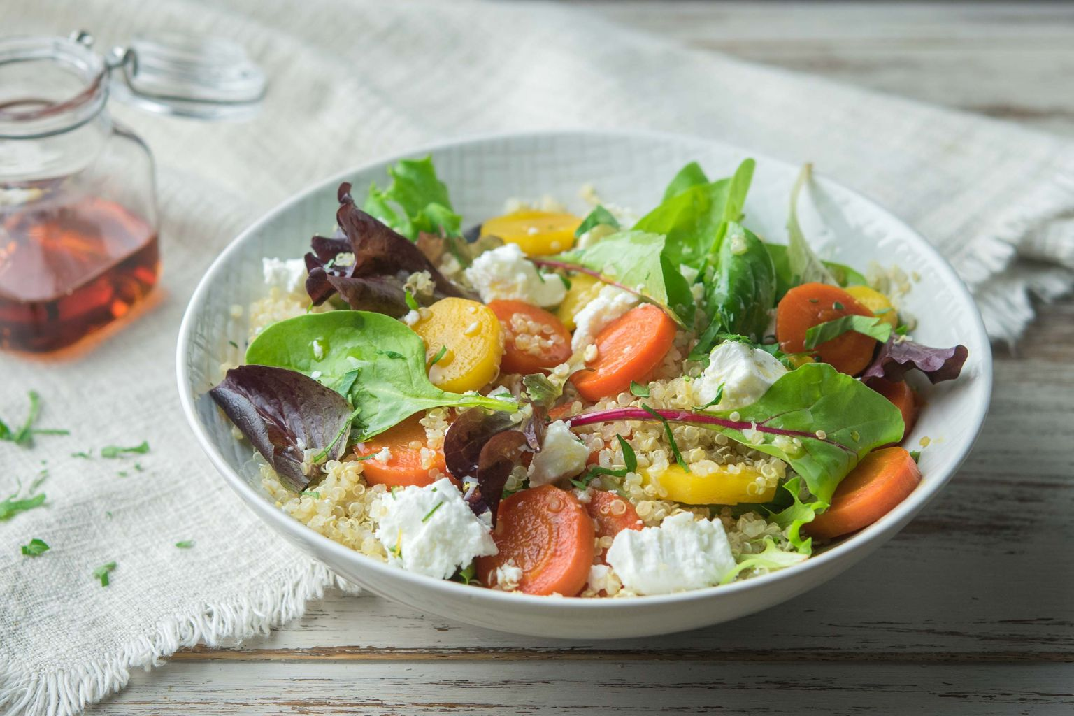 Recette_salade_carottes_glacées_sirop_érable_fromage grec