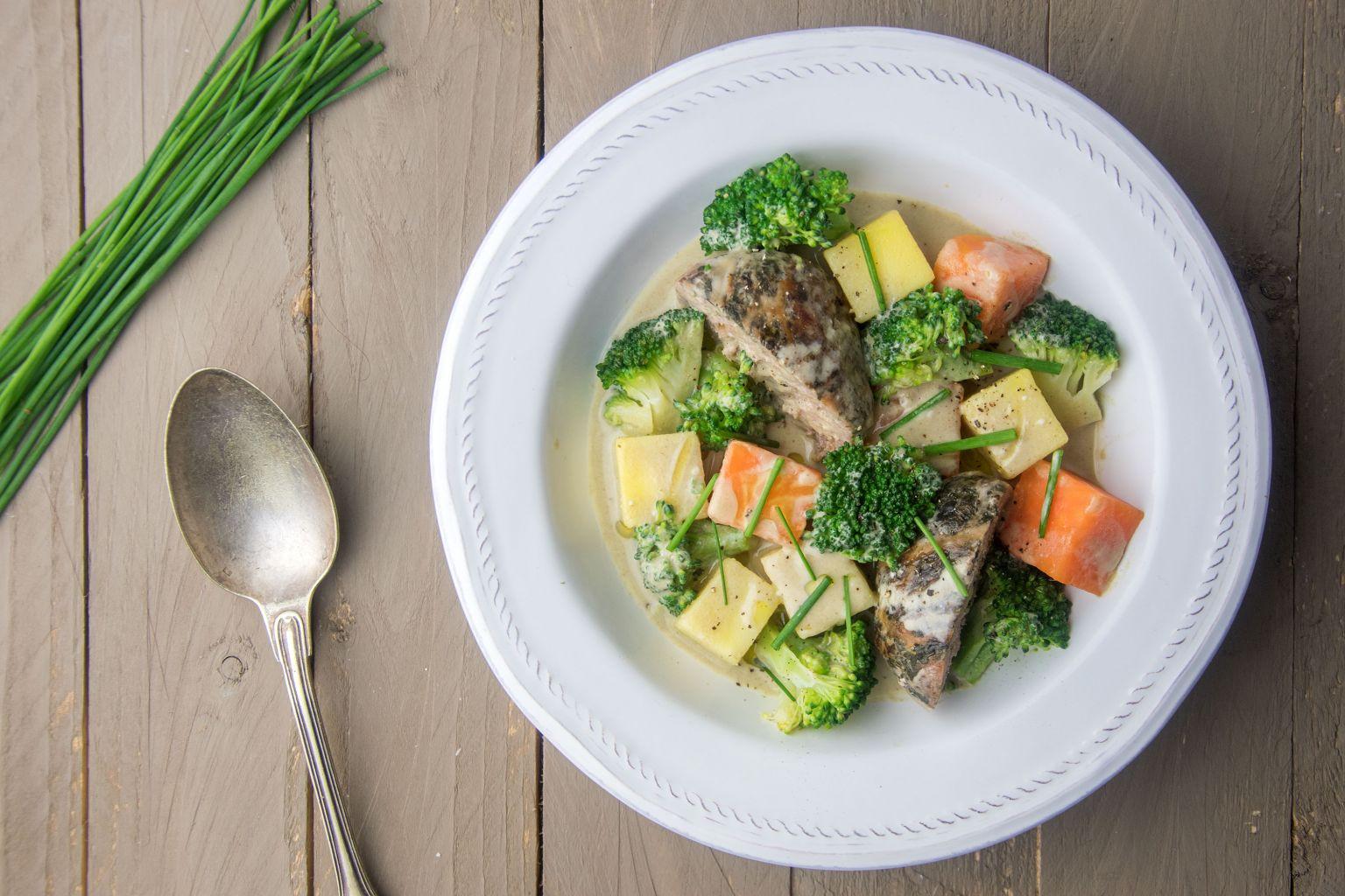 Crépinettes de porc au curry vert