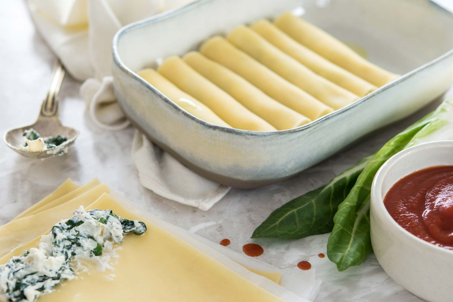 Cannelloni ricotta-blette