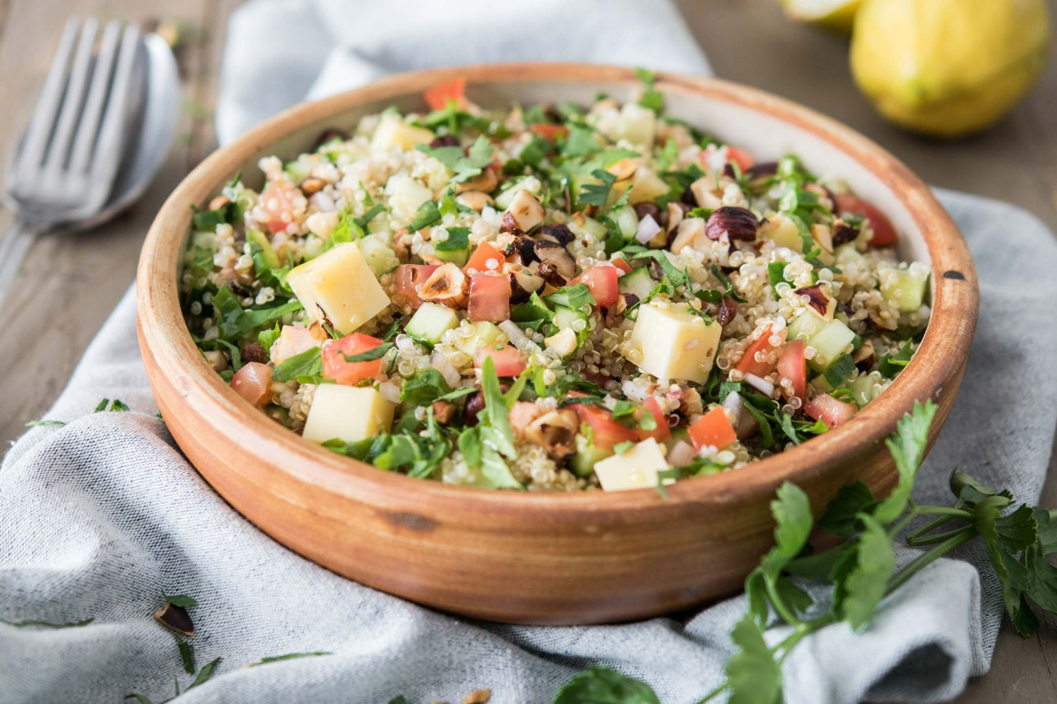 Taboulé de quinoa au comté