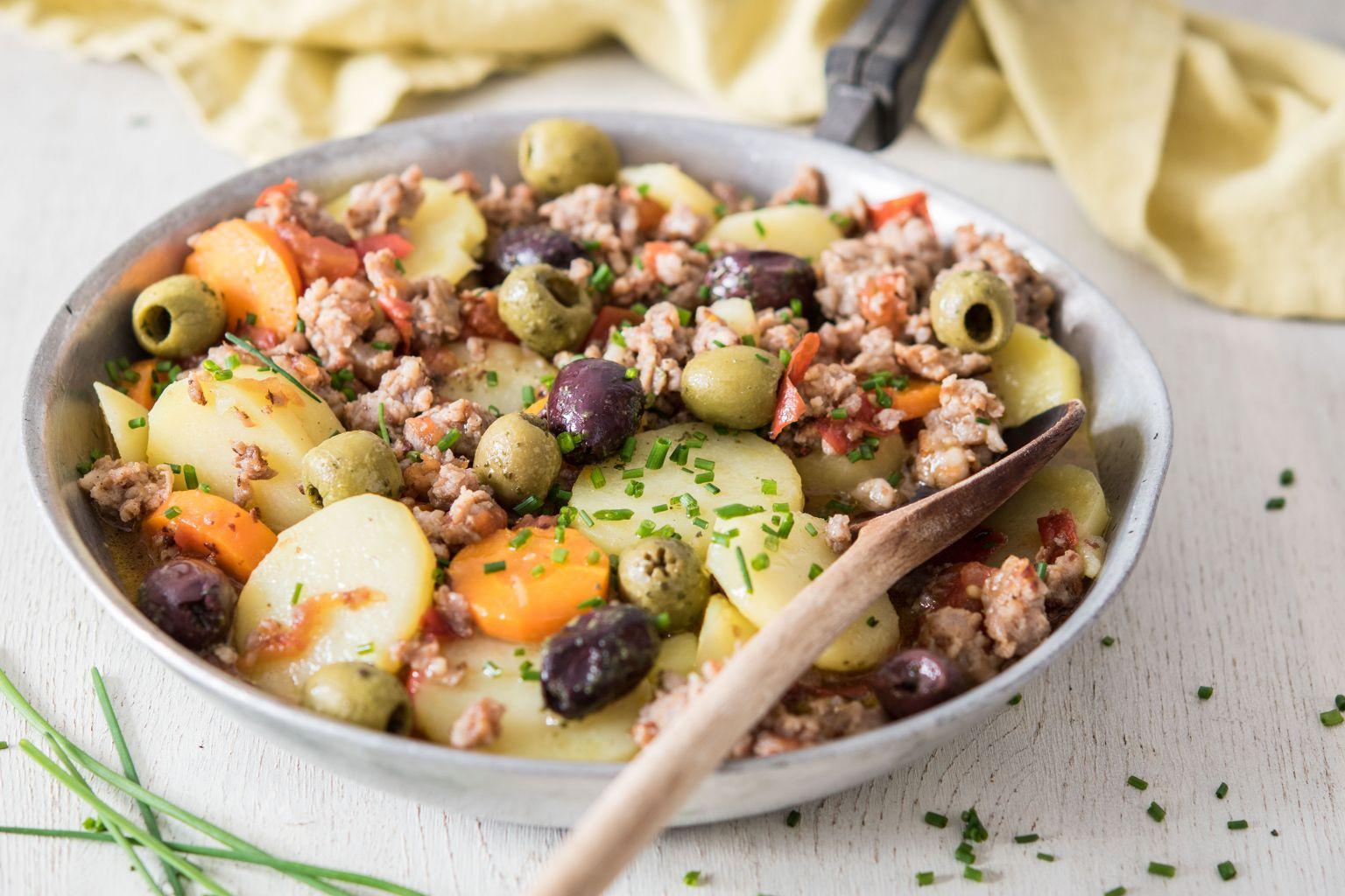 Mijoté de porc aux olives