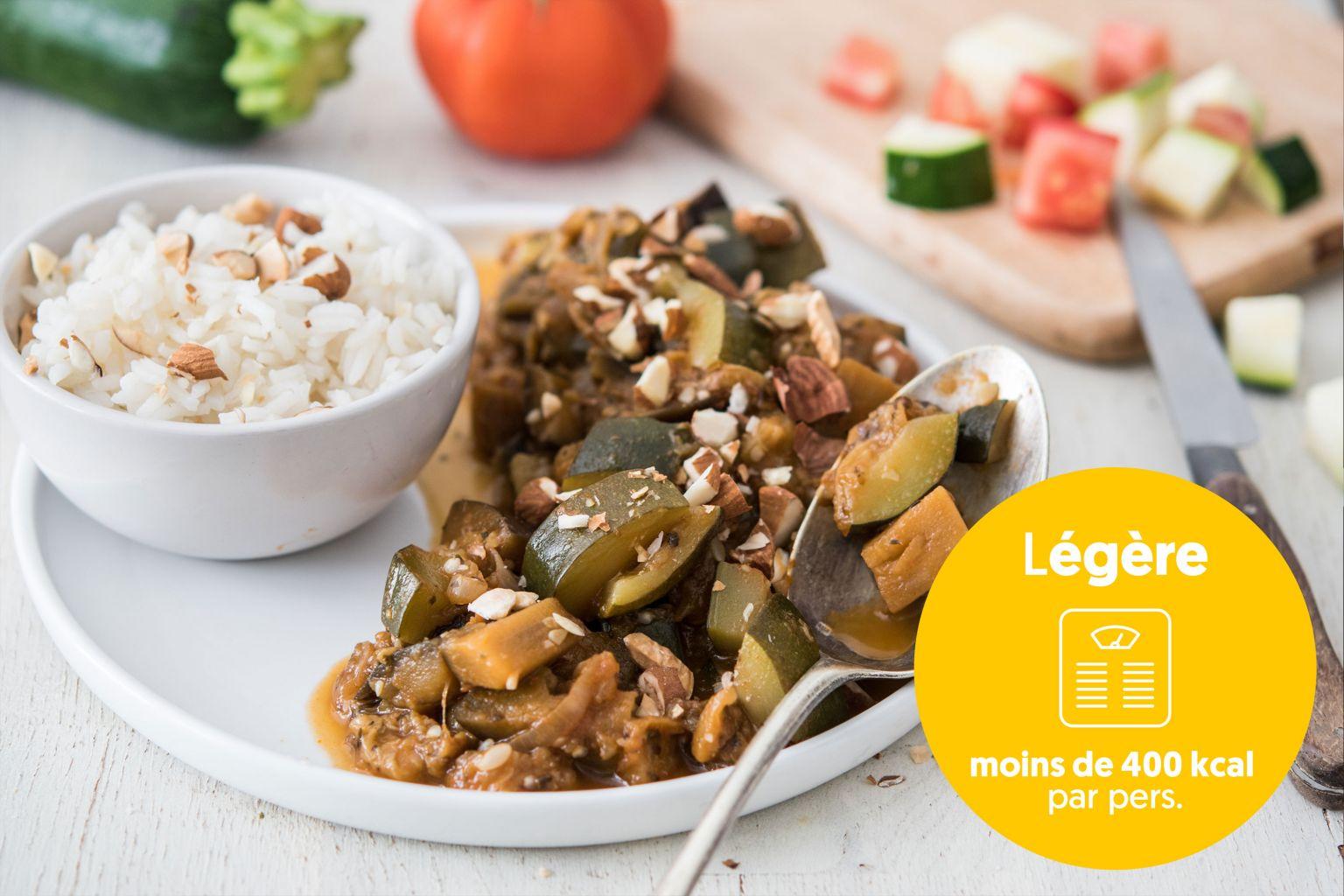 Ratatouille aux épices provençales et amandes