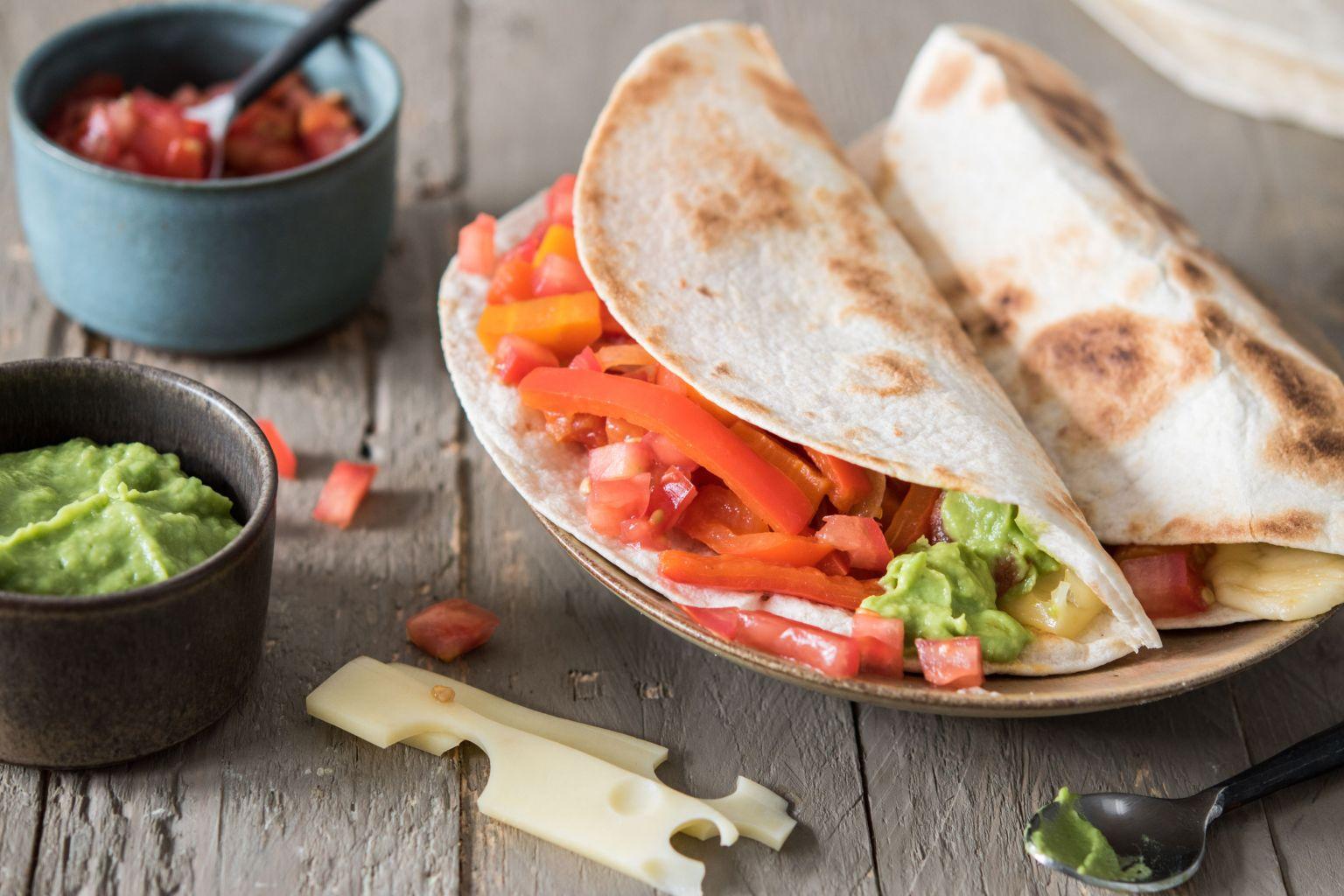 Quesadillas au guacamole et à l'emmental