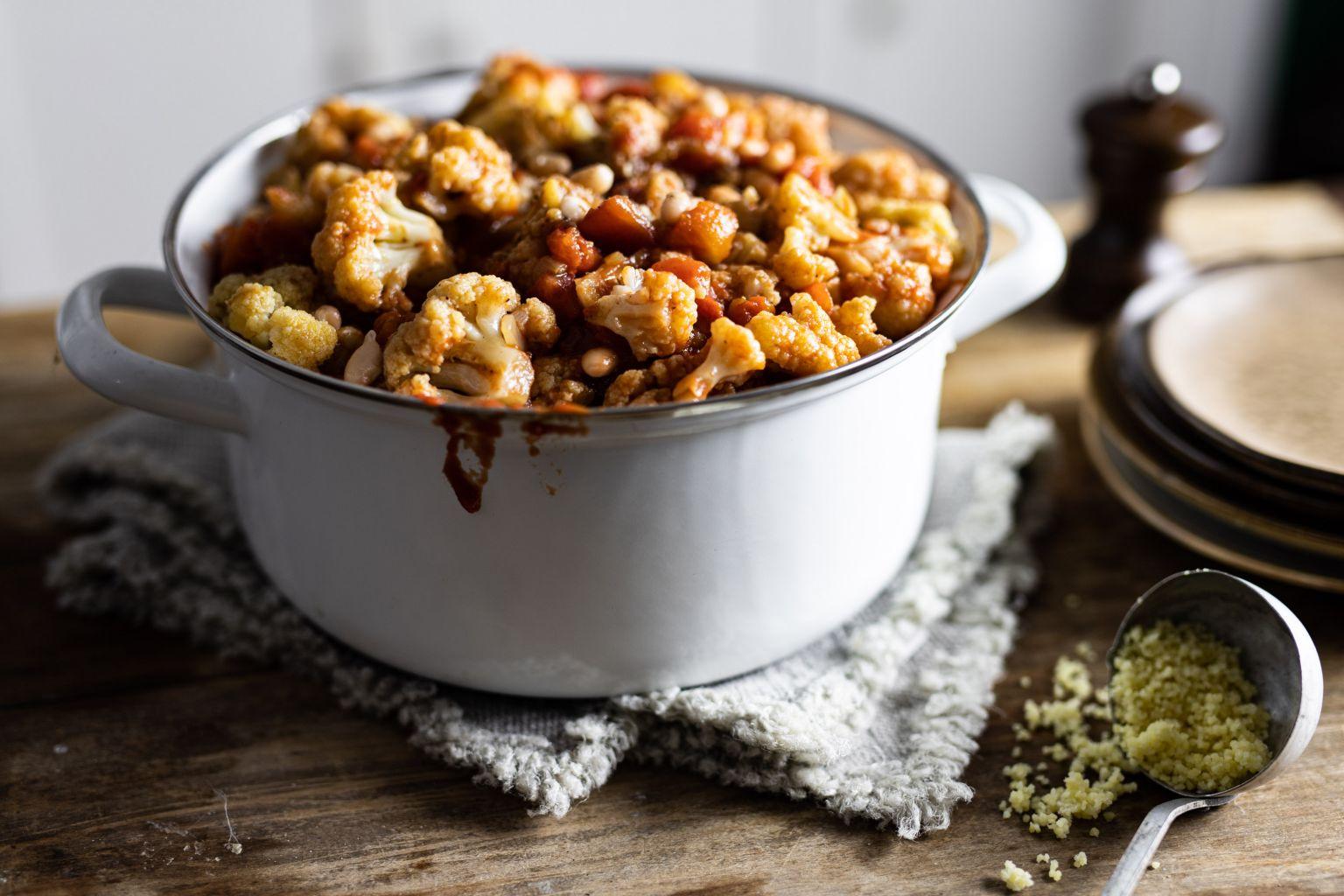 Cocotte de chou-fleur aux épices tandoori