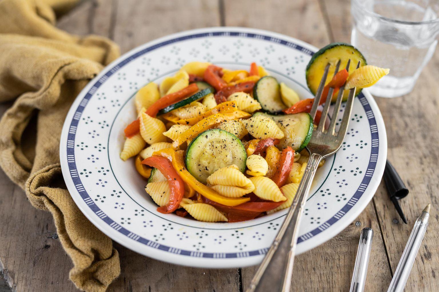 Conchiglie aux légumes grillés